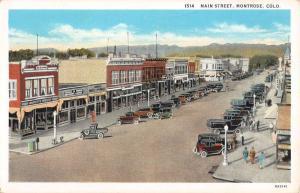 Montrose Colorado Main Street Scene Historic Bldgs Antique Postcard K31754