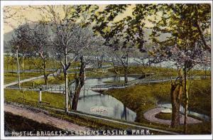 NY - Binghamton. Rustic Bridge, Lagoons Casino Park