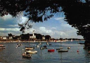 France Benodet de Sainte marine Estuaire de l'Odet Boats Postcard