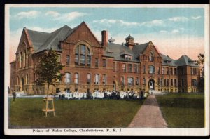PEI CHARLOTTETOWN Prince of Wales College by Valentine's Students - White Border