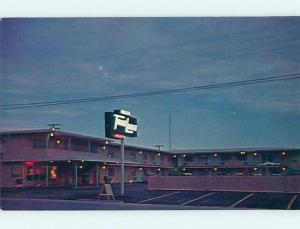 Unused Pre-1980 TRAVELODGE MOTEL Pecos Texas TX u3970