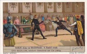 Liebig Vintage Trade Card S1327 Hamlet 1936 No 6 Hamlet's wraak