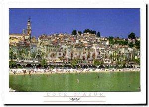 Modern Postcard The French Riviera Menton