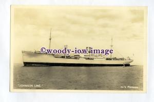 pf0343 - Swedish Johnson Line Cargo Ship - Panama , built 1945 - postcard
