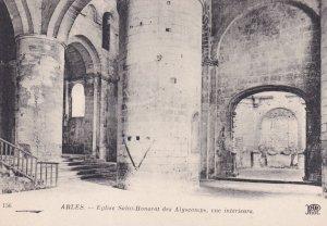 ARLES, Bouches-du-Rhone, France, 1900-1910s; Eglise Saint-Honorat Des Alyscam...
