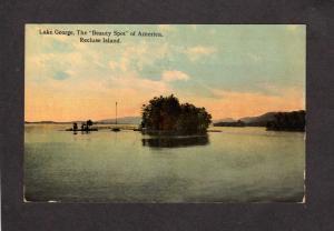 NY Recluse Island LAKE GEORGE NEW YORK Postcard Adirondack