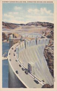 Arizona Highway Across Boulder Dam Connecting Nevada And Arizona
