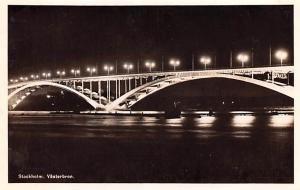 Sweden Old Vintage Antique Post Card Vasterbron Stockholm Unused