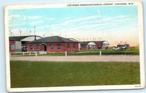 Cheyenne Transcontinental Airport Cheyenne Wyoming 1930s Vintage Postcard B56