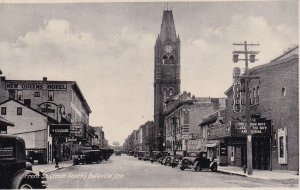 BELLEVILLE, Ontario, Canada, 1920-30's; Front Street From South