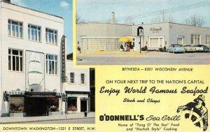 Advertising O'DONNELL'S SEA GRILL RESTAURANT Washington DC~Bethesda MD  Postcard