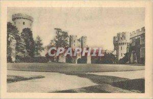Postcard Old Castle Courtyard Looking East Warwick castle