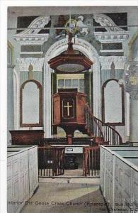 South Carolina Charleston Interior Old Goose Creek Episcopal Church