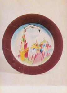 Golenkina Moscow Kremlin Plate Alexeyev Russian Dish Pottery Rare Postcard