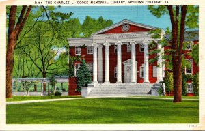 Virginia Hollins College Charles L Cooke Memorial Library