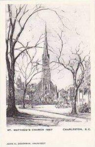 South Carolina Charleston St Mathews Church 1867 Artvue