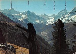 Switzerland Fond du Val d'Anniviers Valais avec Zinal et la Navizence