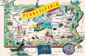 Greetings From Pennsylvania With Map