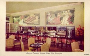 SAN FRANCISCO, CA PALACE HOTEL LOTTA'S FOUNTAIN ANTONIO SOTOMAYOR PAINTINGS