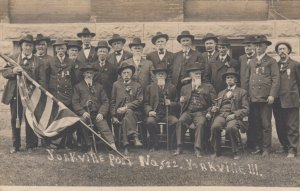 RP: YORKVILLE , Illinois, 1900-10s; GAR Army Group of Soldiers