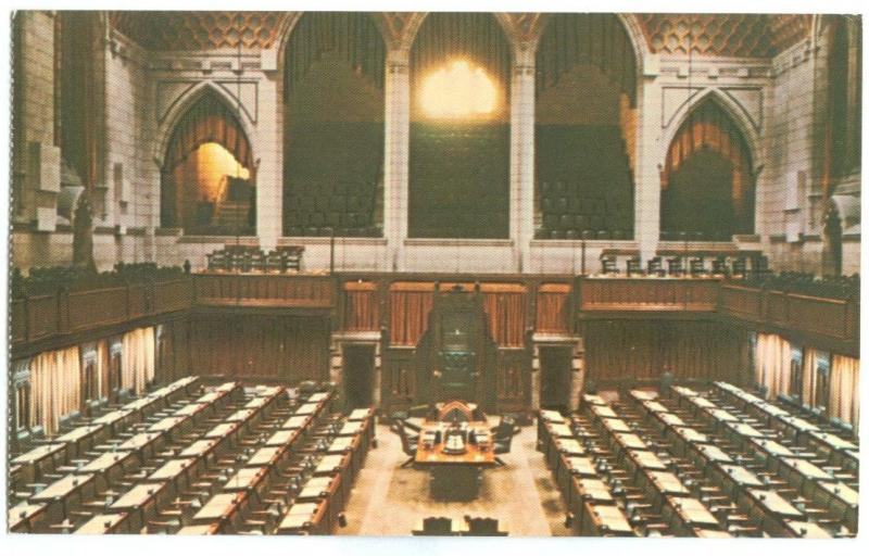 Canada, House of Commons Chamber, unused Postcard