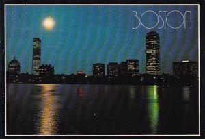 The Back Bay Skyline's Moonlight Mood Boston Massachusetts