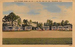 Al's Tourist Court  Callahan, Florida Postcard