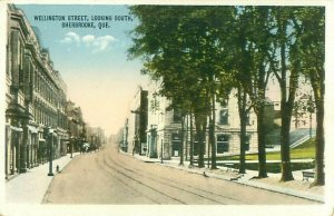 Wellington Street Looking South, Sherbrooke, Quebec, Canada Postcard