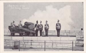 Soldiers Performing Gun Salute at Old Fort Henry, Ontario