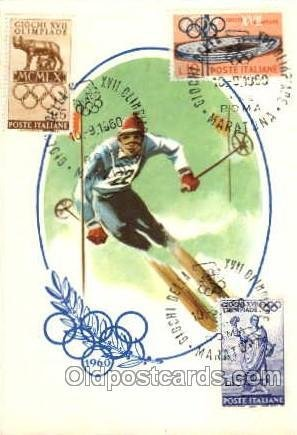 Olympic XVII Rome Itally, 1960 1960 postal used 1960 on front