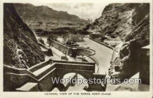 General View of the Tanks Aden Republic of Yemen Writing on back