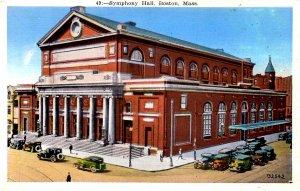 Boston, Massachusetts - Symphony Hall - Boston's Temple of Music - c1920