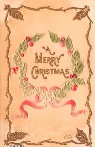 Christmas  postal marking on front