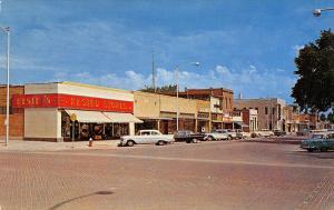 Broken Bow NE Brick St~Hested Department Store~1950s Cars~Lentzman's? Rollins~PC