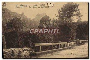Old Postcard Corsica Gorges De Bavella