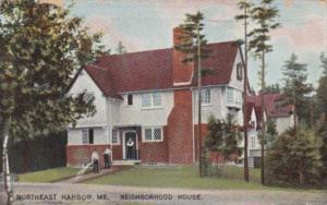 Maine Northeast Harbor The Neighborhood House 1909