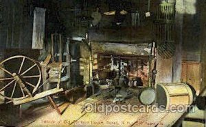 Old Garrison House, Dover, N.H, New Hampshire, USA Spinning Wheel 1908 crease...