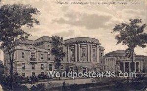 Physics Laboratory & Convocation Hall Toronto Canada 1914 Missing Stamp