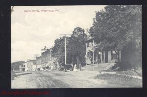 WESTFIELD PENNSYLVANIA DOWNTOWN MAIN STREET SCENE OLD VINTAGE POSTCARD PA.