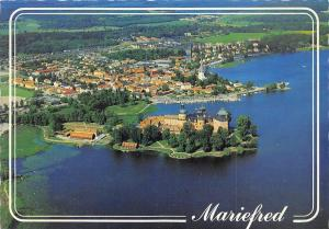Sweden Mariefred Gripsholm Castle Aerial View, Panorama