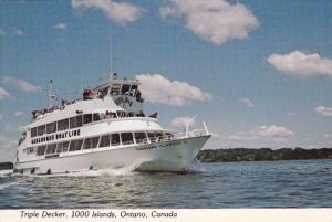 Triple Decker Boat , 1000 Islands , Ontario , Canada , 50-70s