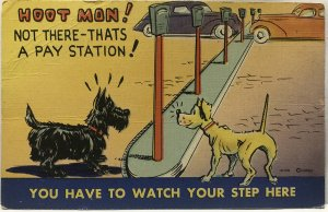 Dogs-relationship-with-poles, group of 3 cards. Colourpicture & MWM brands.
