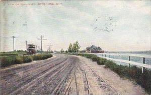 New York Syracuse View On Boulevard 1907