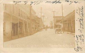RPPC NEVADA CITY, CA Pine Street Scene 1908 Vintage Photo Postcard