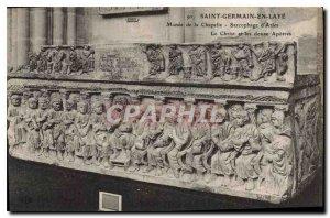 Old Postcard Saint Germain en Laye Museum of the Chapel Sarcophagus of Arles