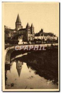 Old Postcard Paray Monial The Sacre Coeur basilica