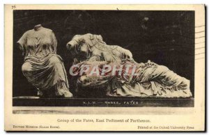 Old Postcard Group of the Fates East Pediment of the Parthenon