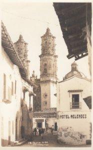 RP: TAXCO , Gro. , Mexico , 1930-40s ; Street at Hotel Melendez