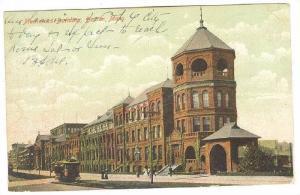 Mechanics Building, Street Car, Boston, Massachusetts, PU-1906