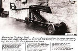 Leominster Ducking Stool Real Photo Postcard